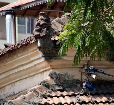 Sculptures on an old Portugese house in Panaji