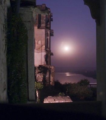 Moon over the Chambal, from my balcony.