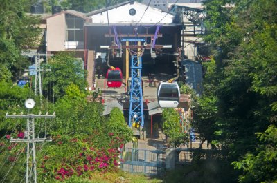 Colourful cable car to Pavagadh