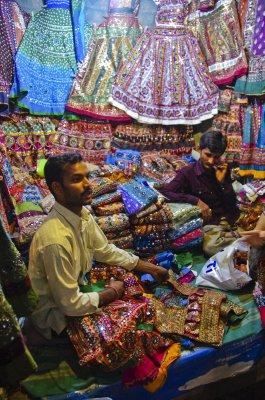 Gujarati textiles at the Law Garden Night Market