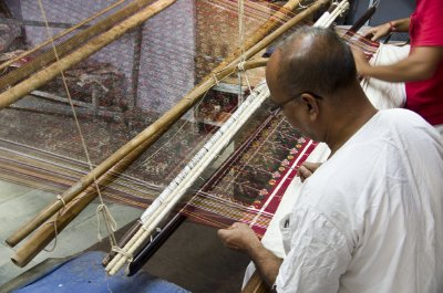 Double-Ikat weaving