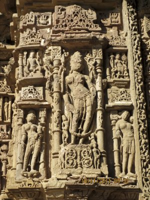 Carvings at the Modhera Sun Temple