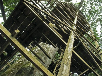 Looking back up the Tower