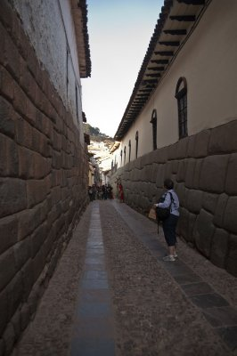 Inca foundations in the streets of Cusco
