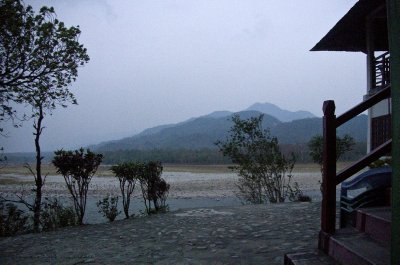 The view from our forest home, looking into Bhutan.