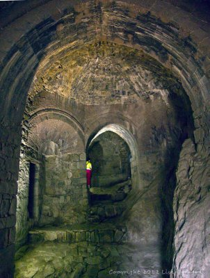 Inside the castle keep
