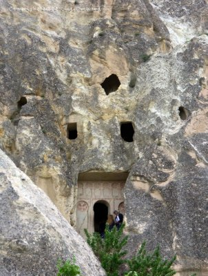 Entrance to a chapel in the Goreme Open Air Museum
