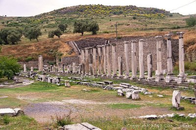 Asklepion theatre and start of the road to Pergamum