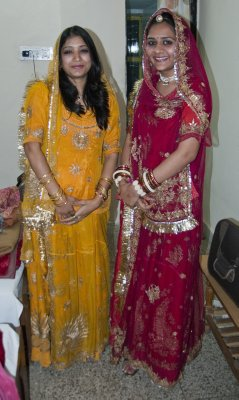 Vibha and Garima in beautiful Rajput style