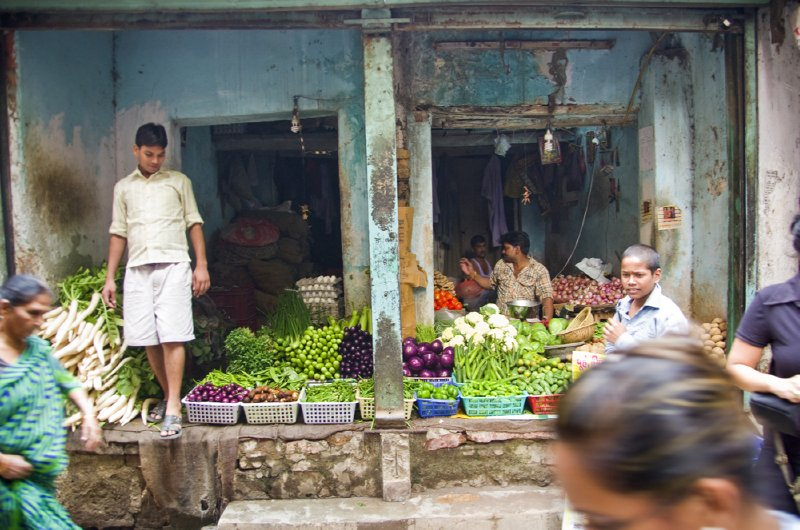 Paharganj vegetable seller