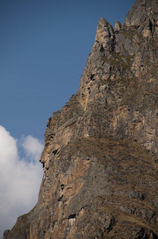 Incan mountain god face