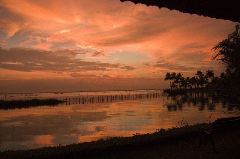 Sunset on Kumarakom Lake
