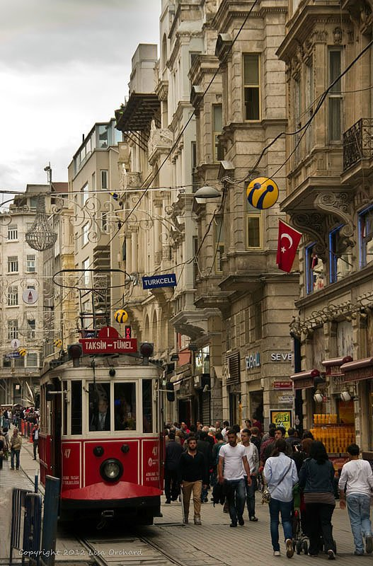 The very trendy Istiklal Caddesi (street)