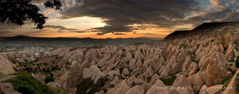 Spectacular Sunset in Cappadocia!