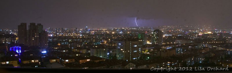Thunder and lightning over Ankara