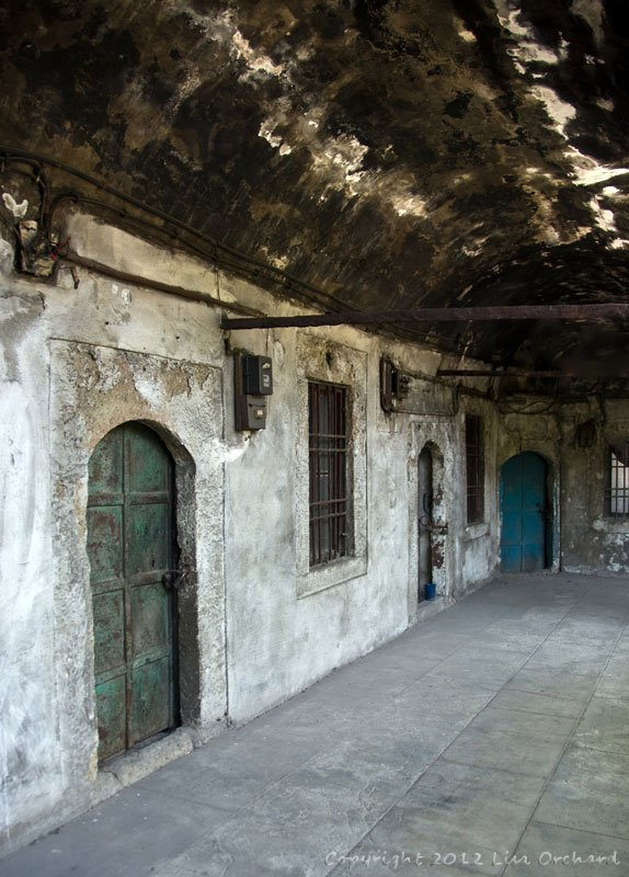 Upper hall of an old caravanserai (inn)