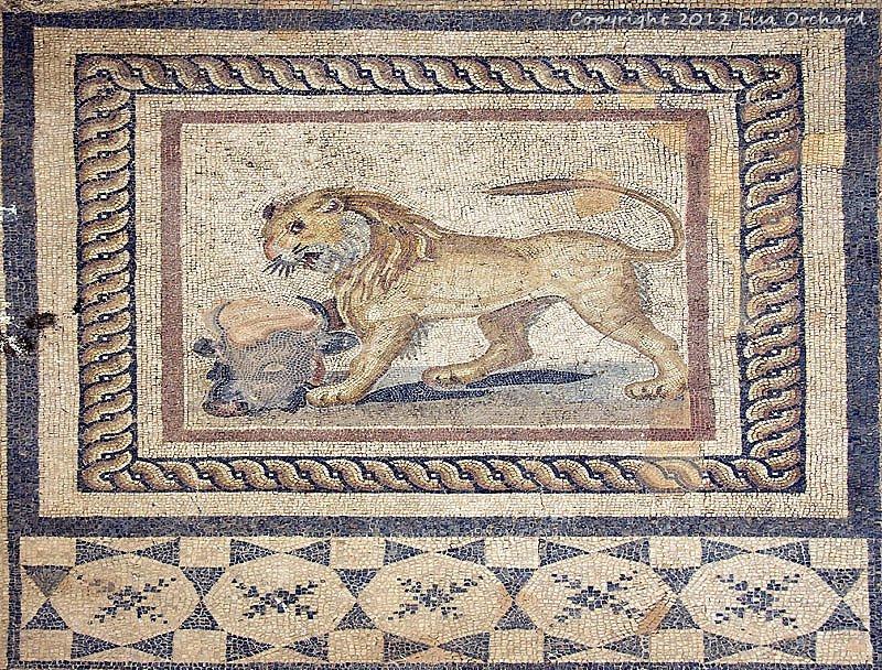 Amazing mosaics inside the Terrace Houses excavation