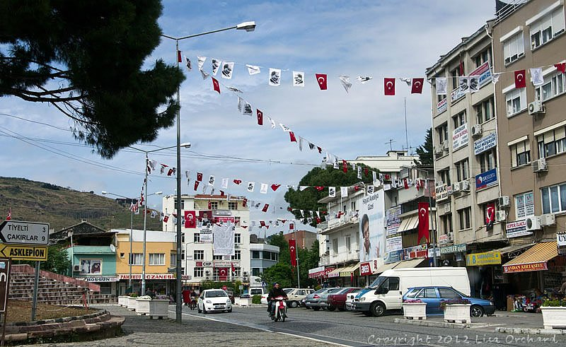 Ataturk hanging from everywhere, along with the flag on Independance Day