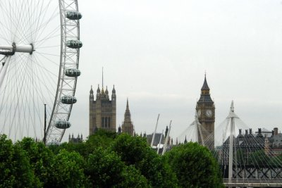 The Eye, Parliament and the Big Ben tower