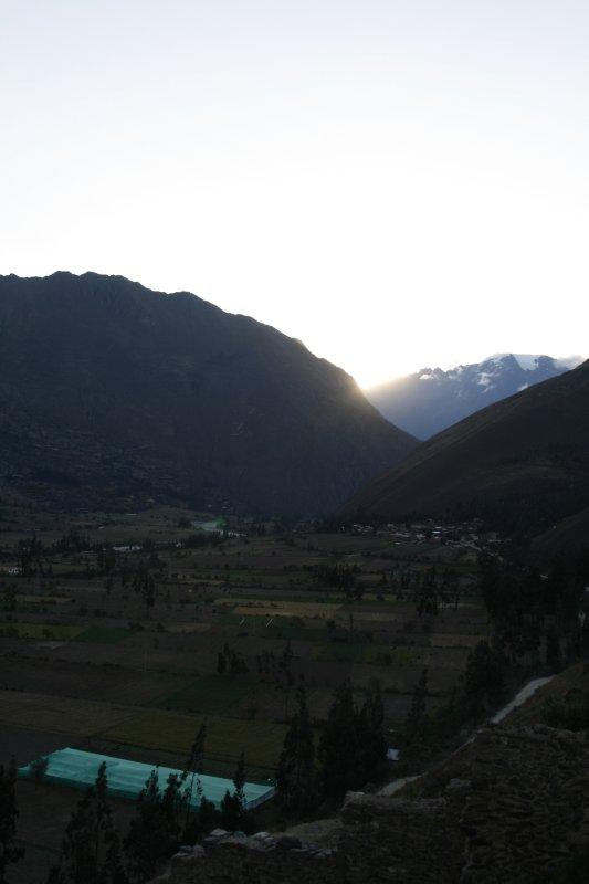 Sundown At Ollantaytambo