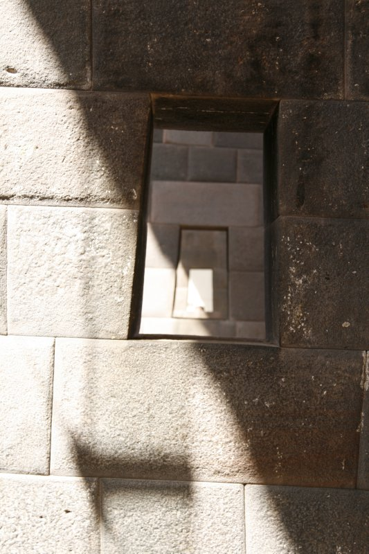 Perfectly Lined Up Incan Windows