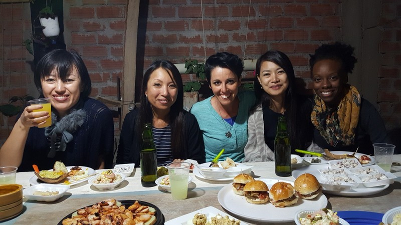 Tapas at Isaac's house with our Japanese friends