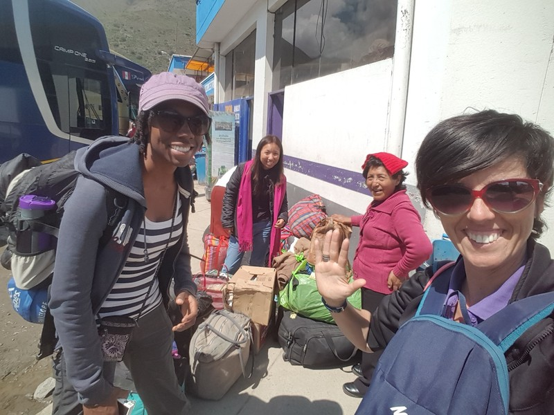 Arriving to the bus terminal in Abancay