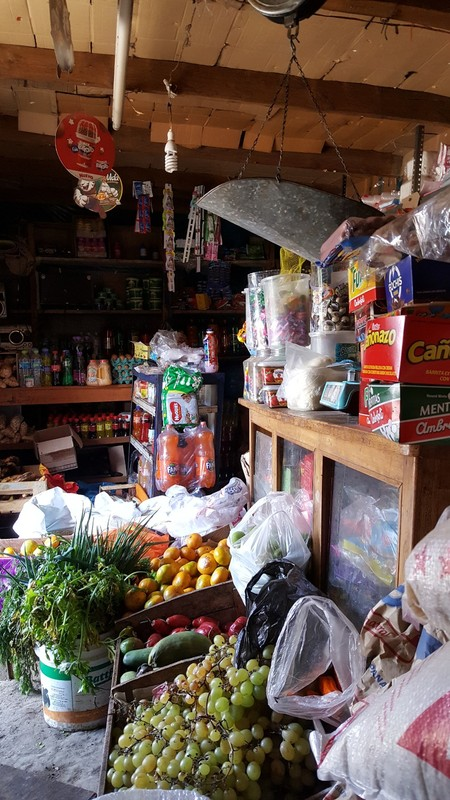 This little store belongs to Eustaquio and his wife Gloria. Here we bought things like fruit and bread in the mornings. Also, we ate lunch inside the store at a small table every day