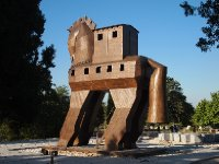 The Trojan Horse at Troy.