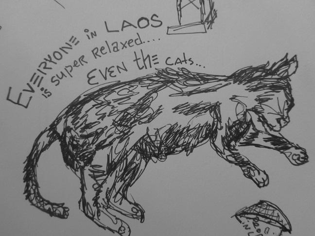 Sketch, Cat in Laos