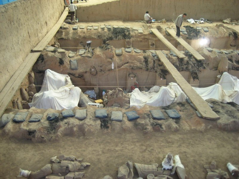 Ongoing work at the Terracotta Army site