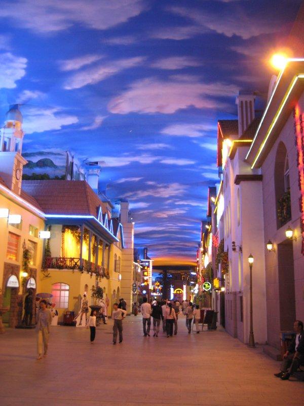 Qingdao's fake sky