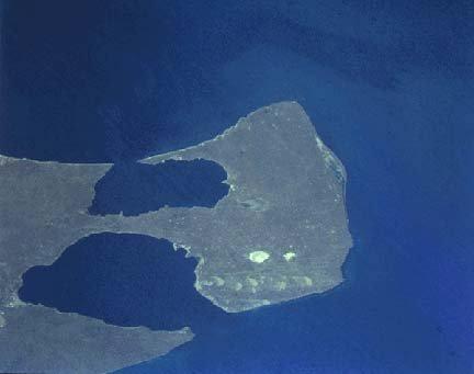 Peninsula Valdes by a satellite