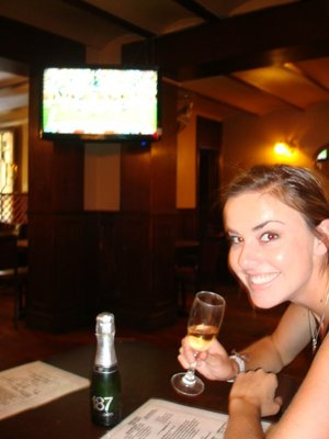 Kate celebrating passing the bar!