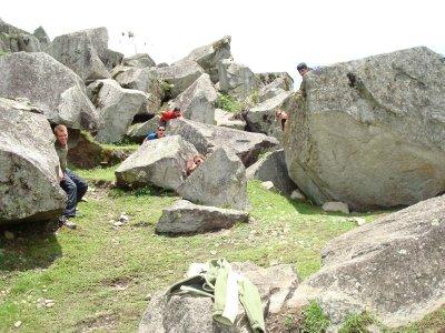 Playing in the Machu Picchu Rock Quarry