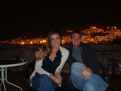 Night on our Cusco rooftop