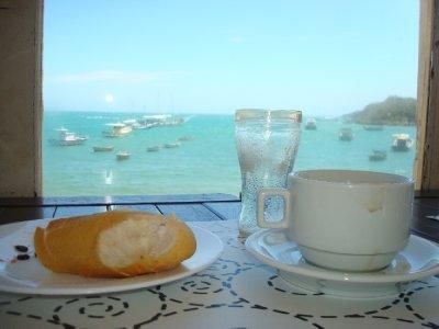 Breakfast view from hostal