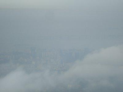 Rio beneath the clouds