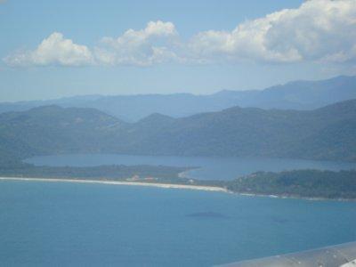 View of Ihla Santa Catarina (Florianopolis) from plane