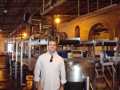 Tim in the Alta Vista Winery on our Mendoza Wine Tour
