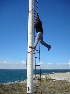 Goofing off at the Strait of Magellan