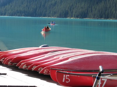 Canoes at Lake Louise