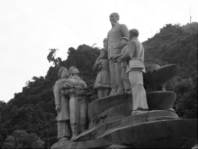 Statue of Ho Chi Minh in the centre of Ha Giang