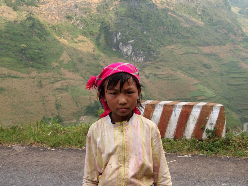 Very serious minority girl