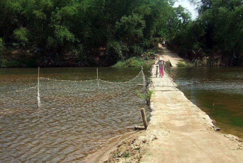 Bamboo bridge near Hoi An