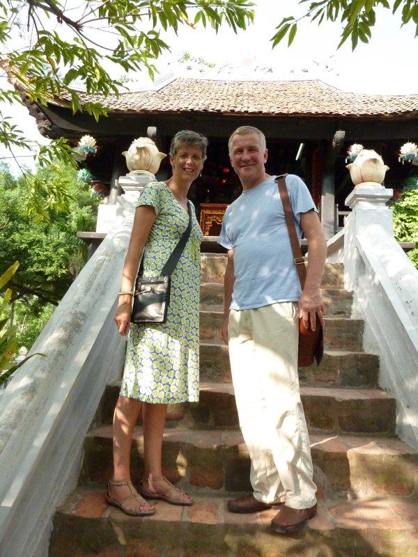 Amanda with Bill, One Pillar Pagoda