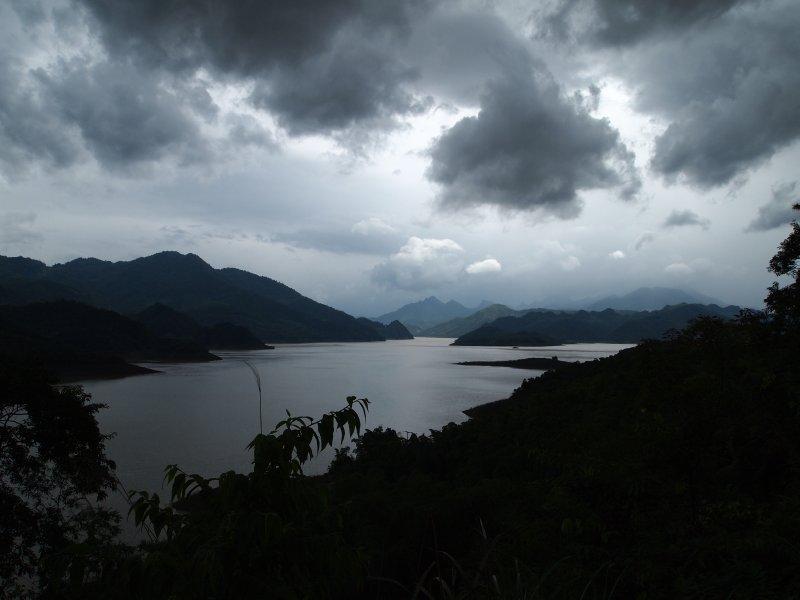 Limestone hills around the lake at Mai Chau