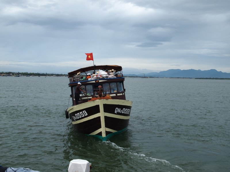 A ferry heading for the Cham Islands