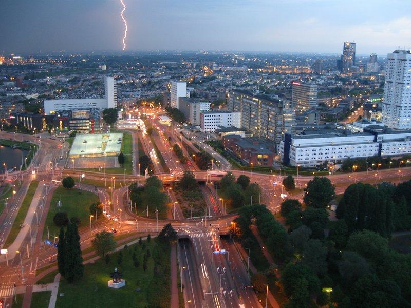 Lightning in Rotterdam