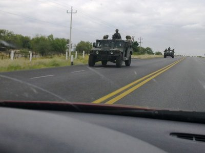 On the road between Nuevo Leon and Tamaulipas. Some people call this a no-go-zone ...